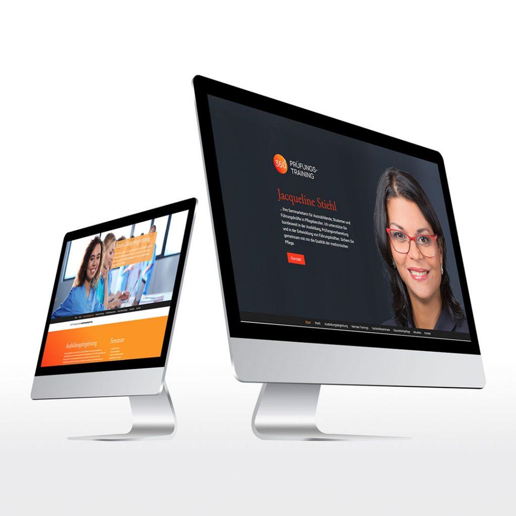 Webdesign für 360° Prüfungstraining
