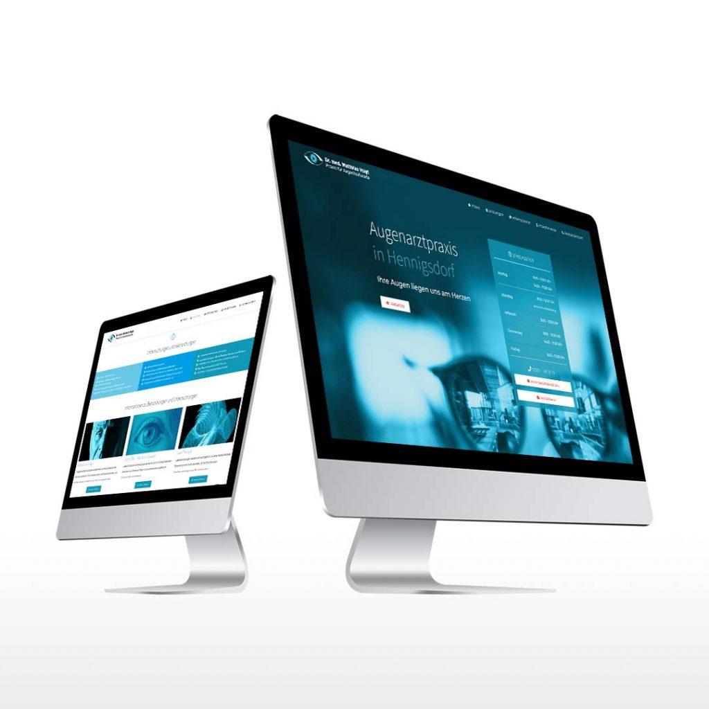 Webdesign für Augenarzt Voigt Hennigsdorf