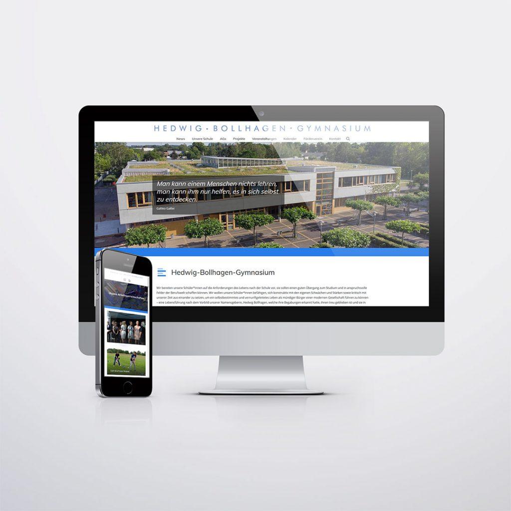 Webdesign für Bollhagen Gymnasium Velten