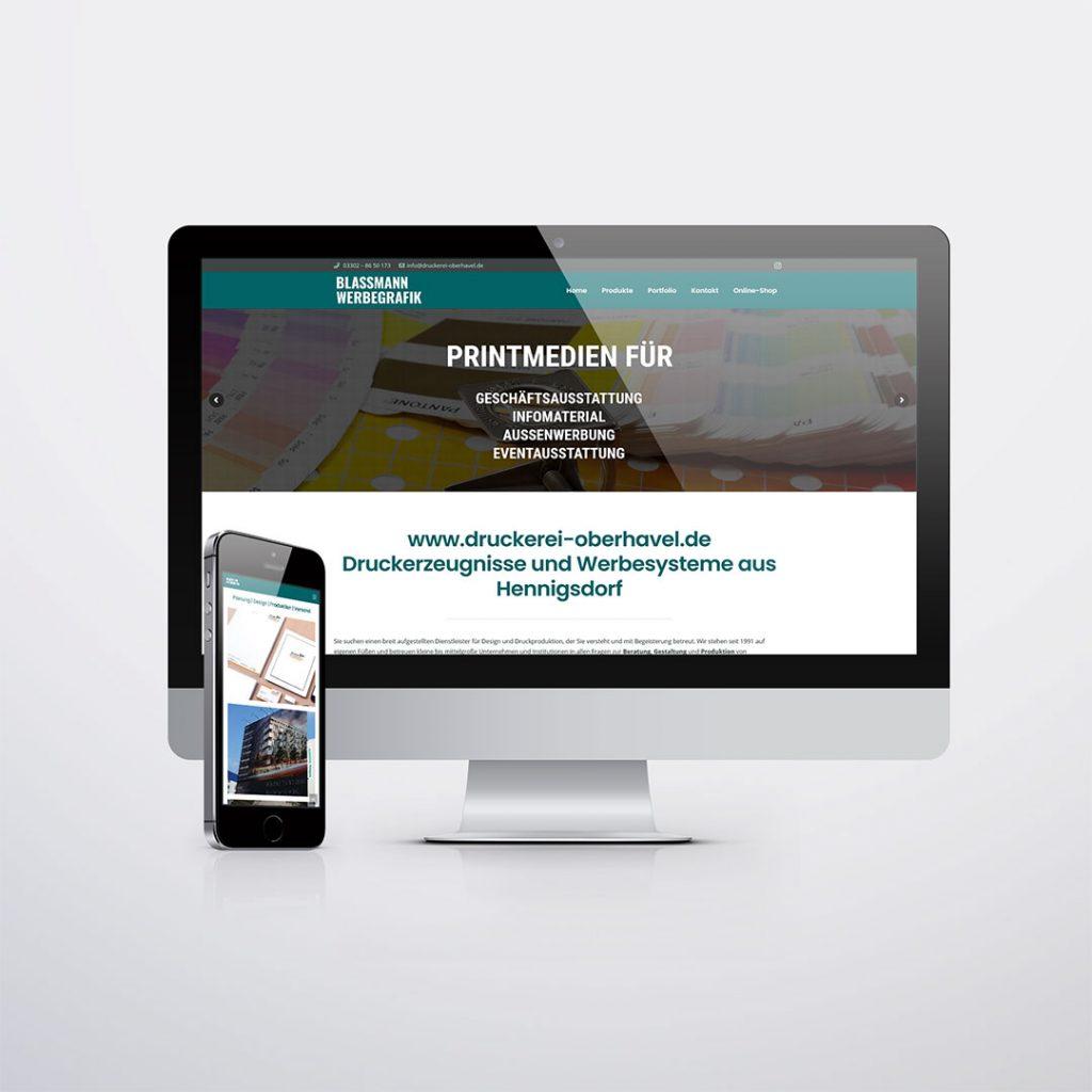 Webdesign für für Druckerei Oberhavel