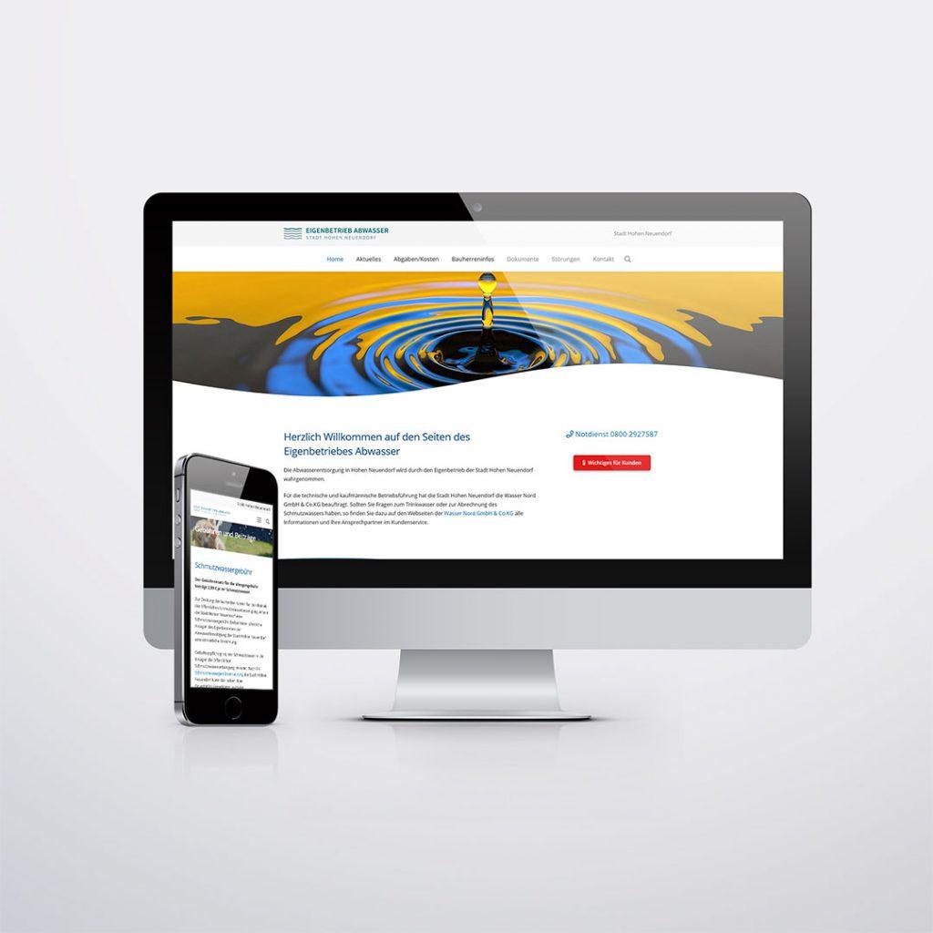Webdesign für Eigenbetrieb Abwasser Hohen Neuendorf