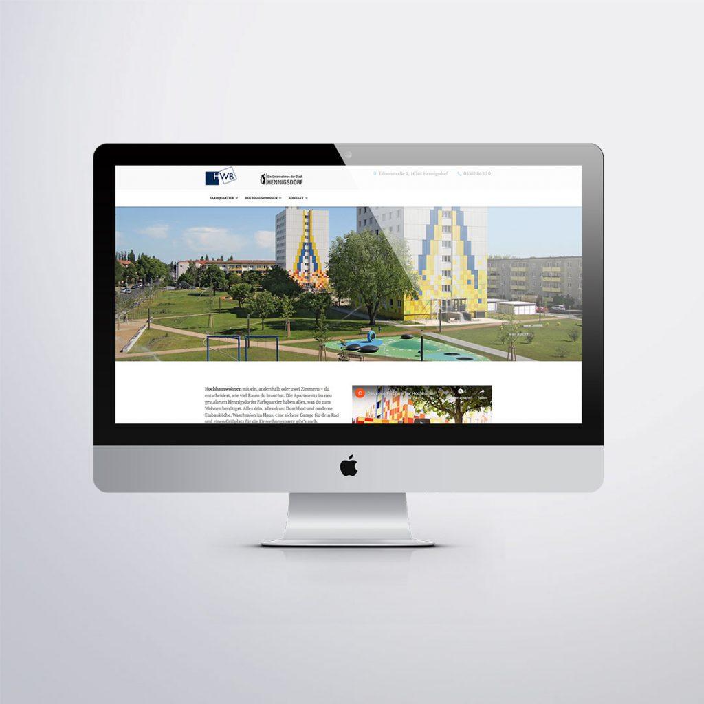 Webdesign für HWB Hochhauswohnen Hennigsdorf
