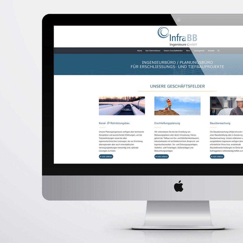 Webdesign für InfraBB Hennigdorf