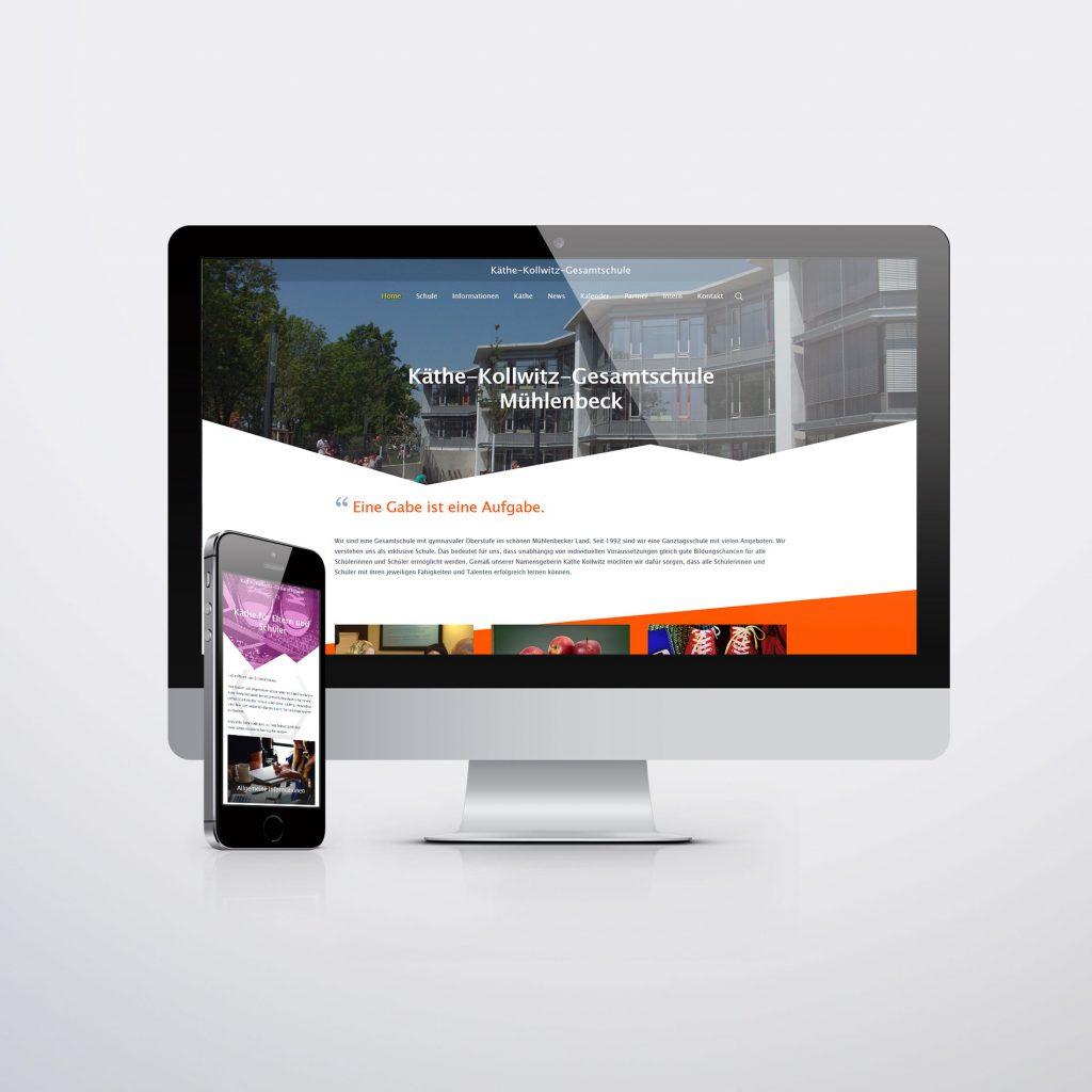 Webdesign für Käthe Kollwitz Gesamtschule Mühlenbeck