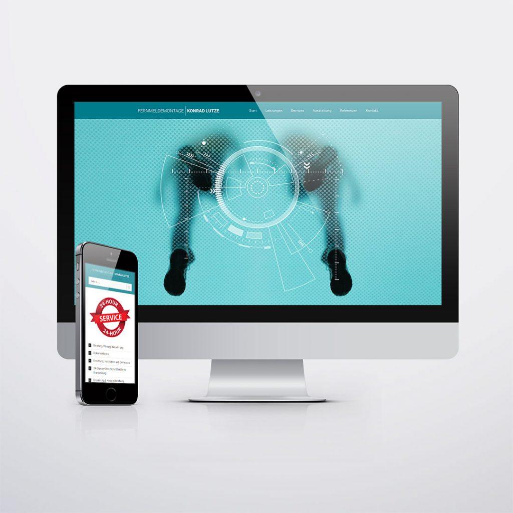 Webdesign für Fernmeldemontage Konrad Lutze Liebenwalde