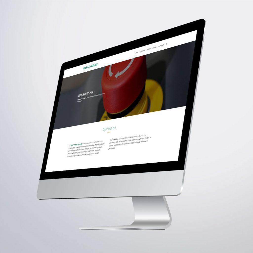 Webdesign für Kraft Service GmbH Hennigsdorf