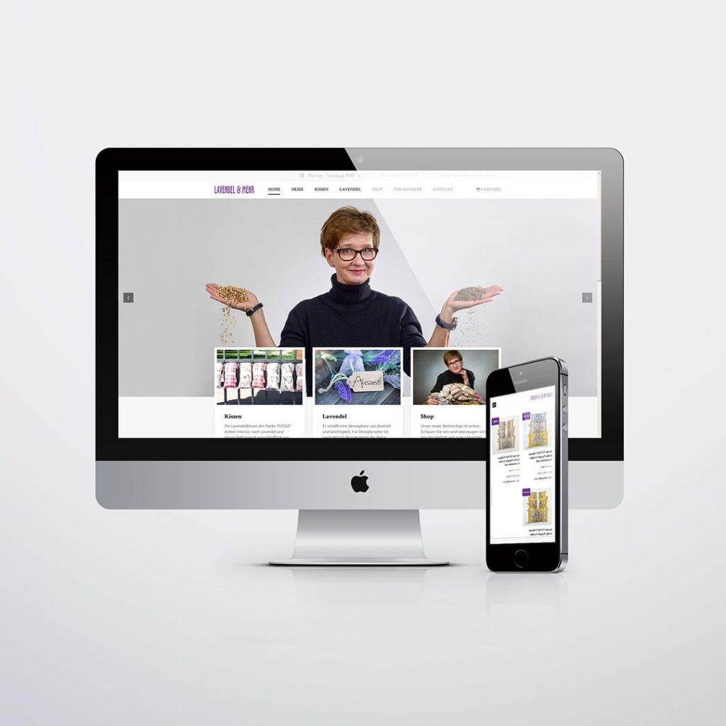 Webdesign für Lavendel & mehr Oranienburg