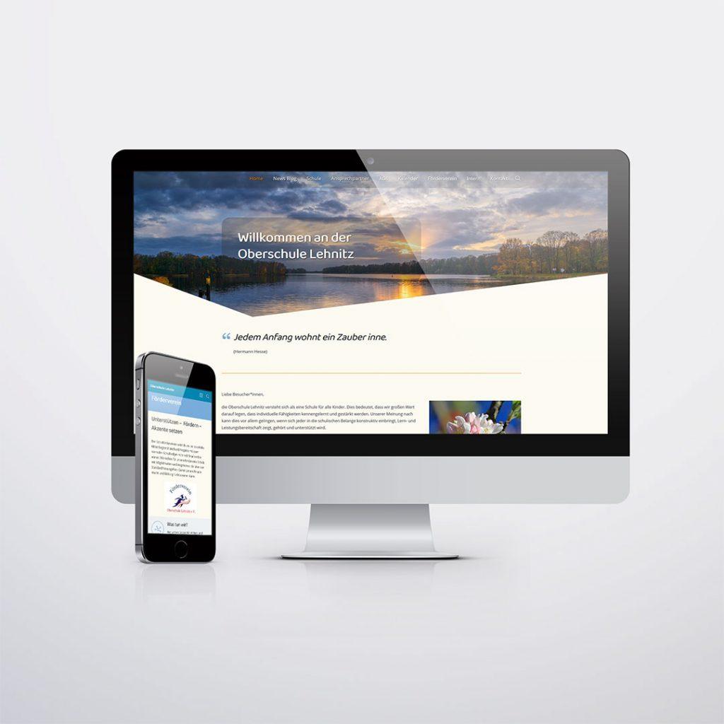Webdesign für Oberschule Lehnitz
