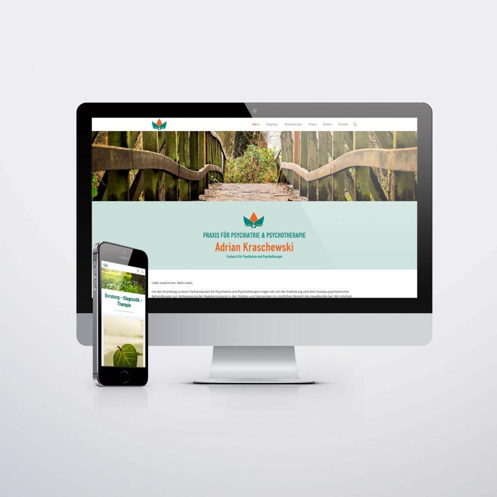 Webdesign für Facharztpraxis für Psychiatrie Nauen
