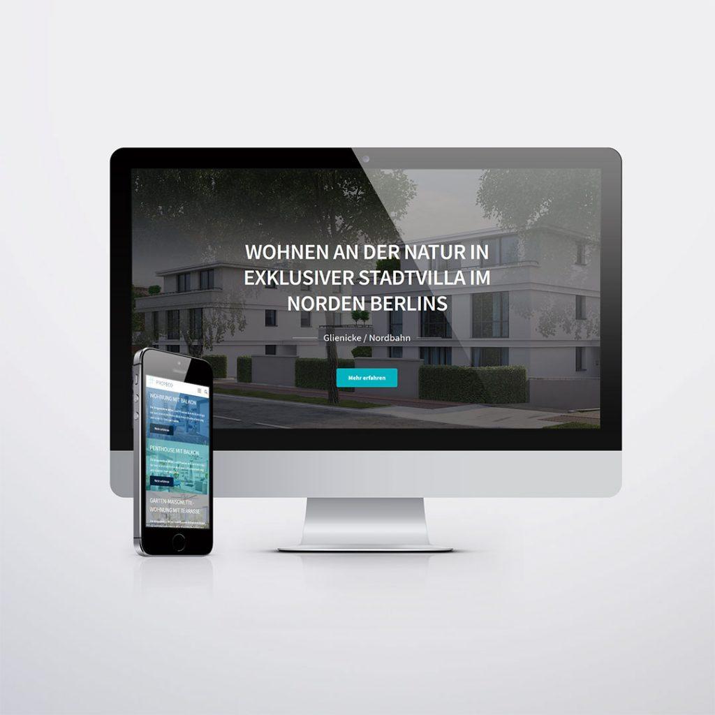 Webdesign für Propeco Housing GmbH
