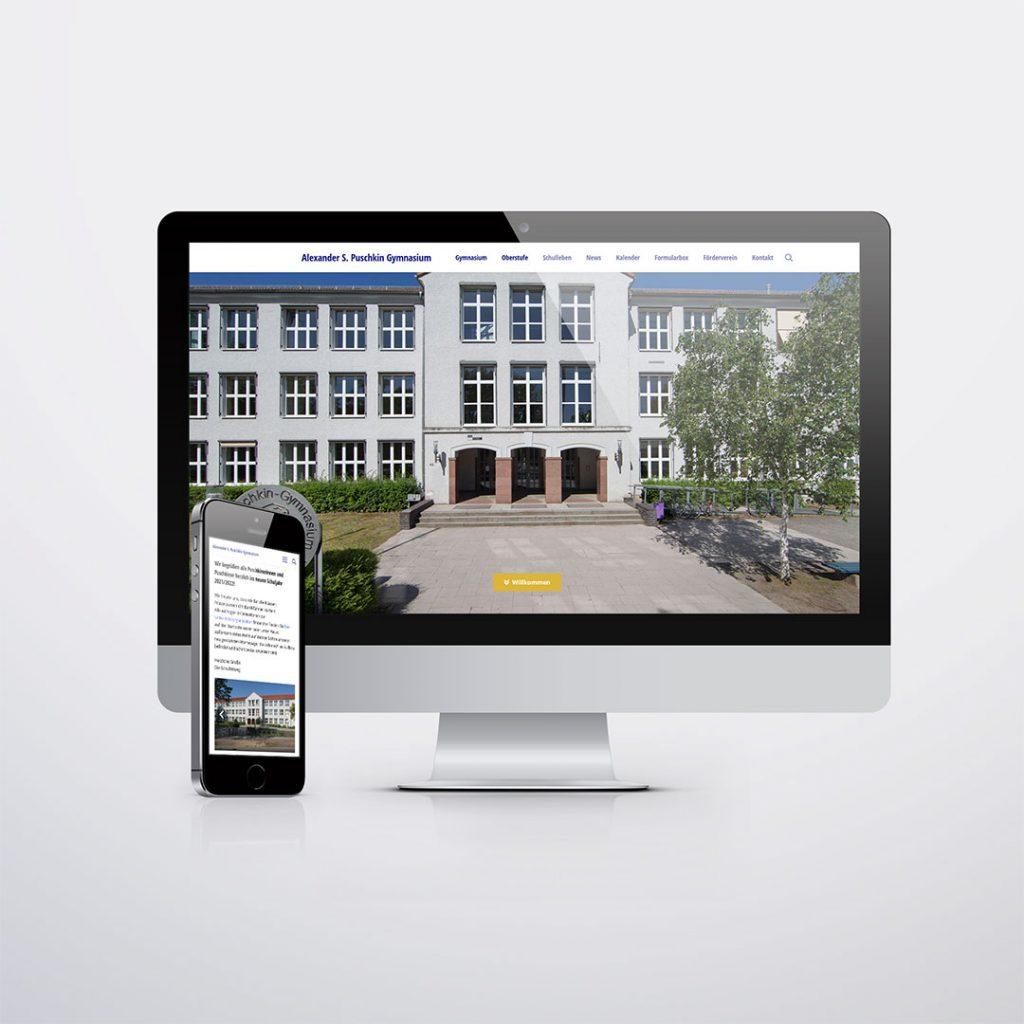 Webdesign für Alexander S. Puschkin Gymnasium Hennigsdorf