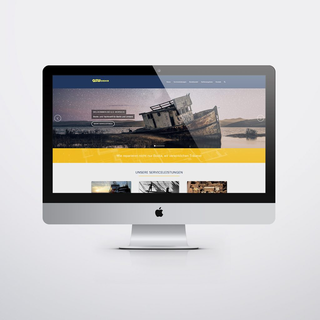 Webdesign für QS Worseck Hennigsdorf
