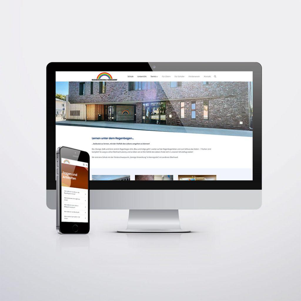 Webdesign für Regenbogenschule Hennigsdorf
