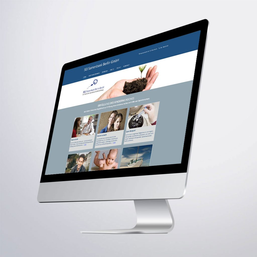 Webdesign für SEJ Samenbank Berlin