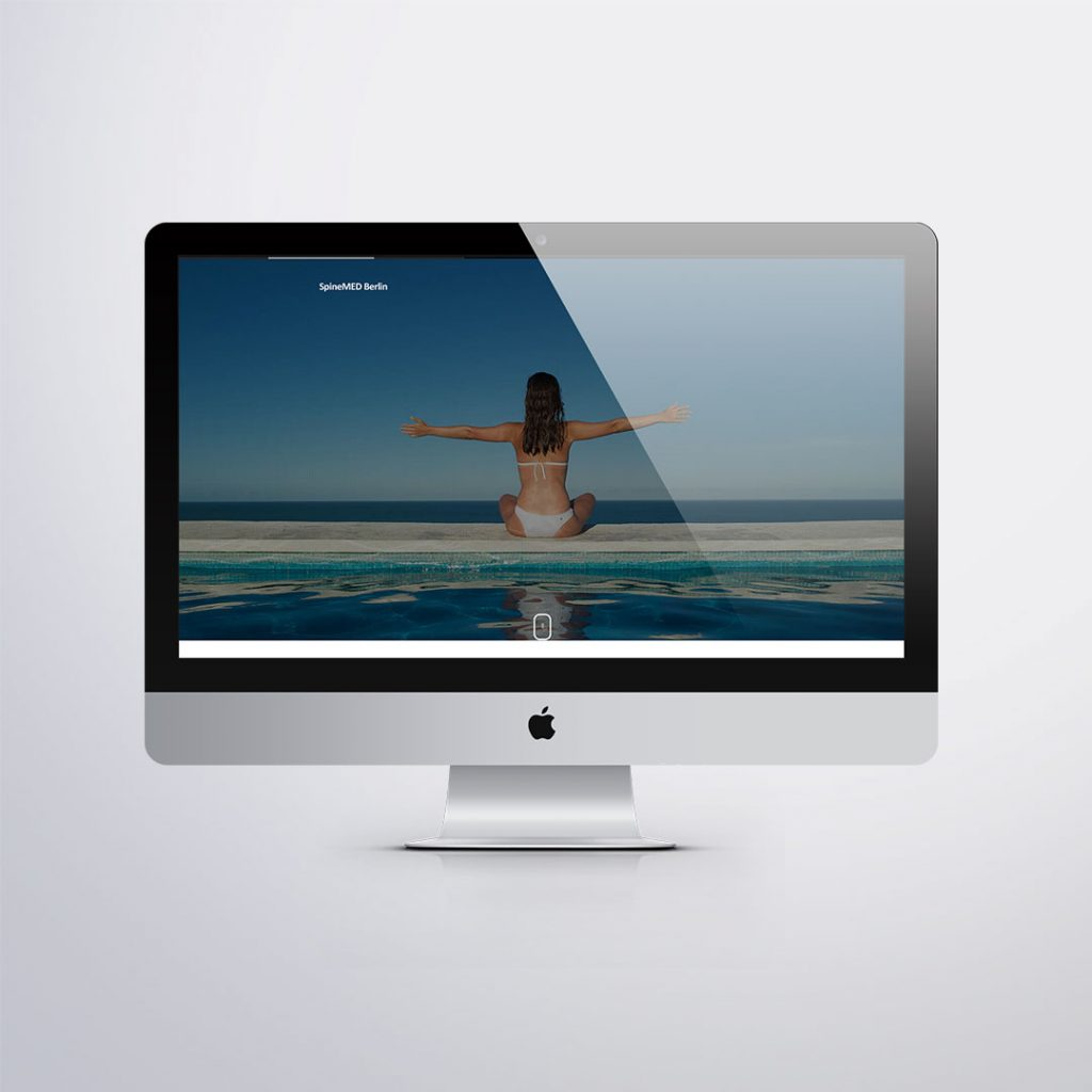 Webdesign für Spinemed Berlin