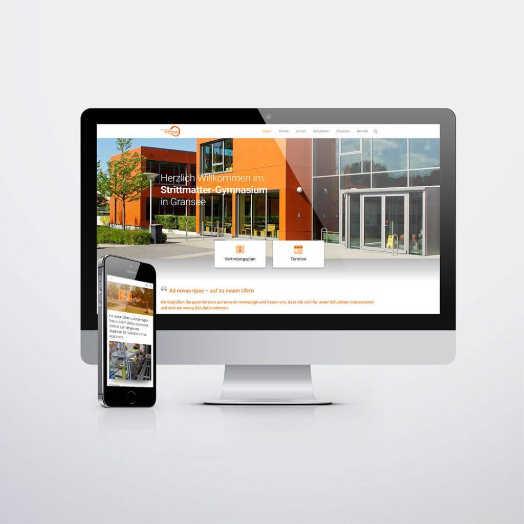 Webdesign für Strittmatter-Gymnasium Gransee