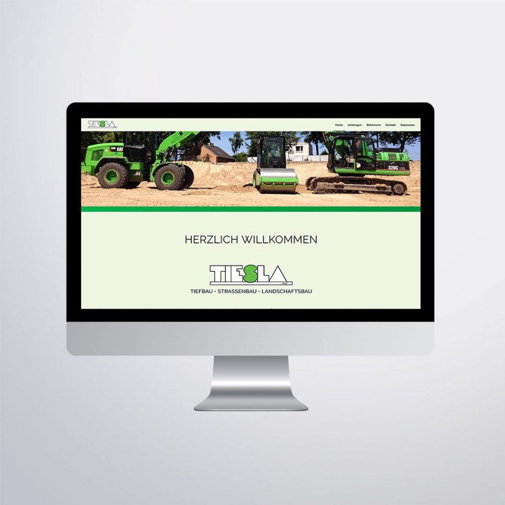 Webdesign für für Tiesla GmbH