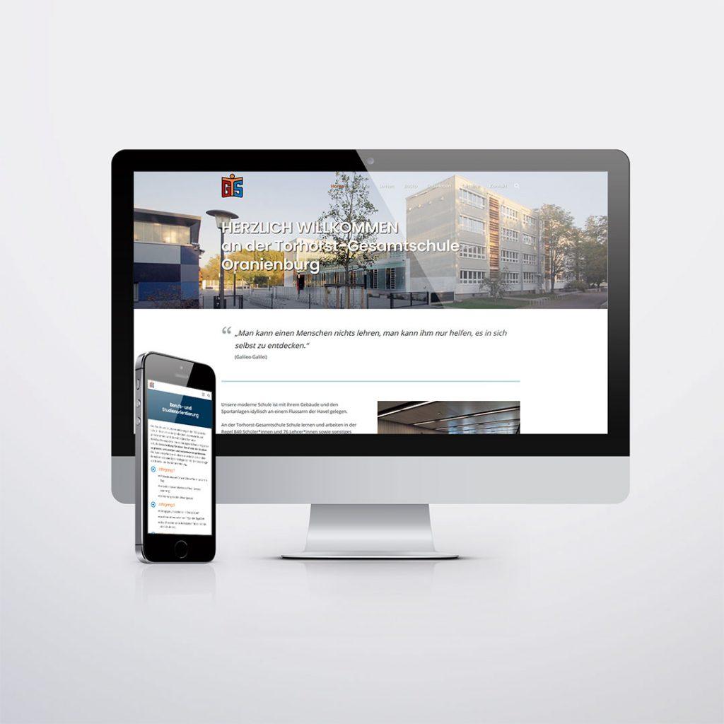 Webdesign für Torhorst-Gesamtschule Oranienburg
