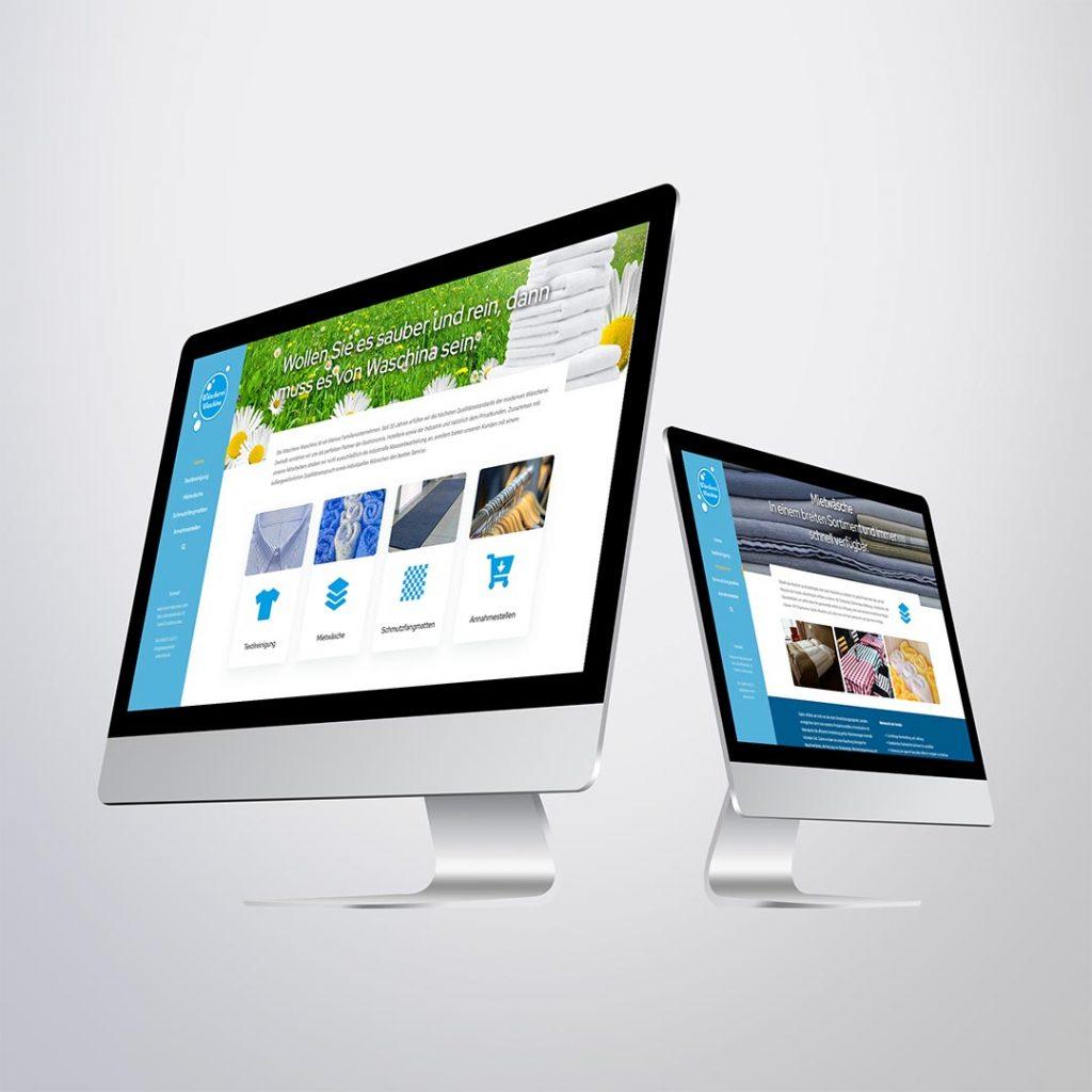 Webdesign für Wäscherei Waschina Großderschau
